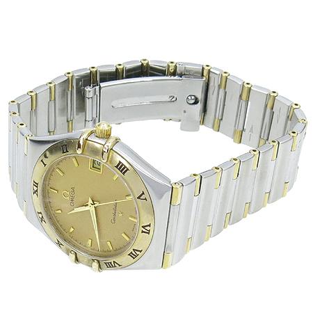 Omega(오메가) 1372 10 18K 콤비 컨스틸레이션 하프바 쿼츠 남성용 시계 [강남본점]