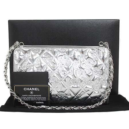 Chanel(샤넬) 08C A37156Y04784 45002 실버 페이던트 아이콘 로고 은장 체인 숄더백 [명동매장]