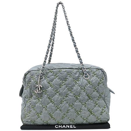 Chanel(샤넬) A50632 투톤스티치 그레이 나일론 마트라쎄 은장 COCO 로고 체인 숄더백 [강남본점]
