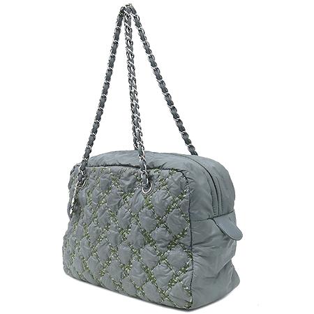 Chanel(샤넬) A50632 투톤스티치 그레이 나일론 마트라쎄 은장 COCO 로고 체인 숄더백 [강남본점] 이미지3 - 고이비토 중고명품