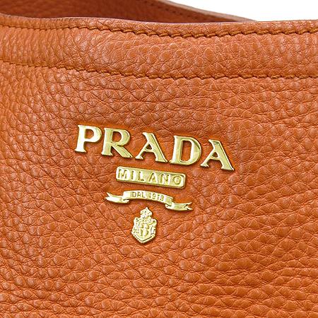 Prada(프라다)  B2343M 금장 로고 장식 VIT.DAINO 사슴가죽 PAPAYA(파파야) 2WAY [강남본점] 이미지4 - 고이비토 중고명품