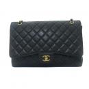 Chanel(샤넬) A47600 캐비어스킨 블랙 클래식 맥시 사이즈 금장로고 체인 숄더백 [동대문점]