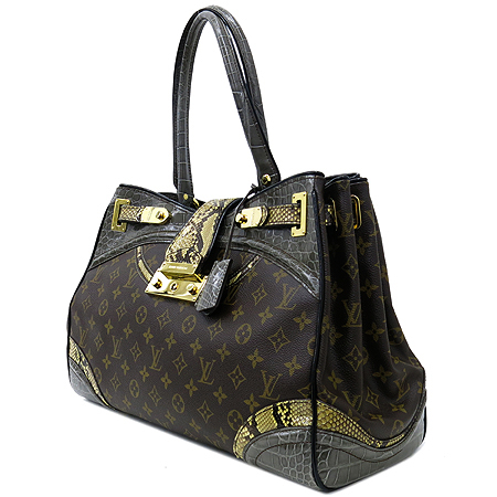 Louis Vuitton(루이비통) Exotique(이그조티크) Monogramissime(모노그래미시메) 파이손+엘리게이터 트리밍 쇼퍼 GM 숄더백 [대구반월당본점] 이미지3 - 고이비토 중고명품