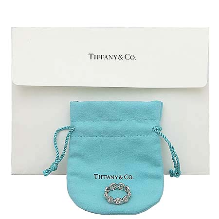 Tiffany(티파니) PT950(플래티늄) 다이아몬드 서클랫 밴드링  반지-9호 [동대문점]