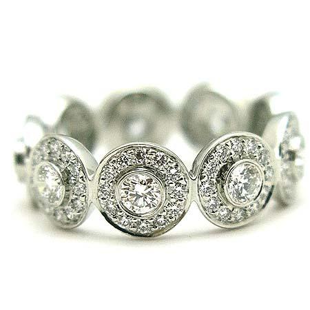 Tiffany(티파니) PT950(플래티늄) 다이아몬드 서클랫 밴드링  반지-9호 [동대문점] 이미지2 - 고이비토 중고명품