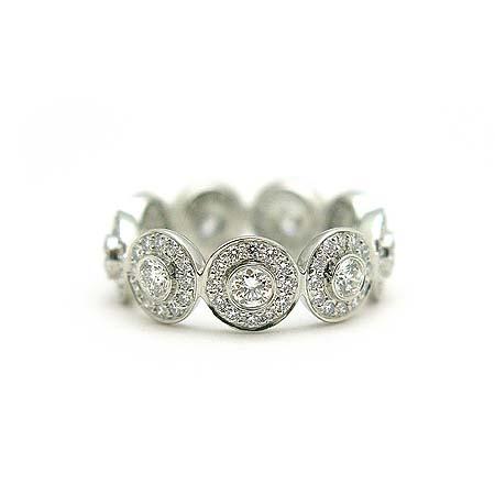Tiffany(티파니) PT950(플래티늄) 다이아몬드 서클랫 밴드링  반지-9호 [동대문점] 이미지3 - 고이비토 중고명품