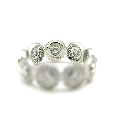 Tiffany(티파니) PT950(플래티늄) 다이아몬드 서클랫 밴드링  반지-9호 [동대문점] 이미지5 - 고이비토 중고명품