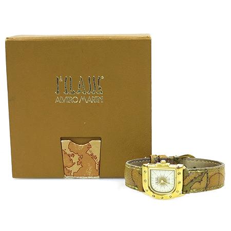 ALVIERO MARTINI(알비에로 마르티니) 금장 쿼츠 가죽밴드 여성용 시계 [강남본점]
