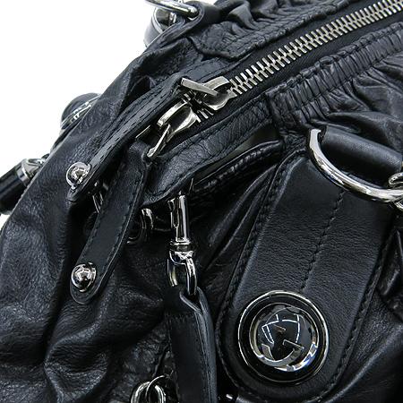Gucci(구찌) 228838 블랙 레더 셔링 GG 로고 장식 체인 토트백 + 숄더스트랩 [강남본점] 이미지4 - 고이비토 중고명품