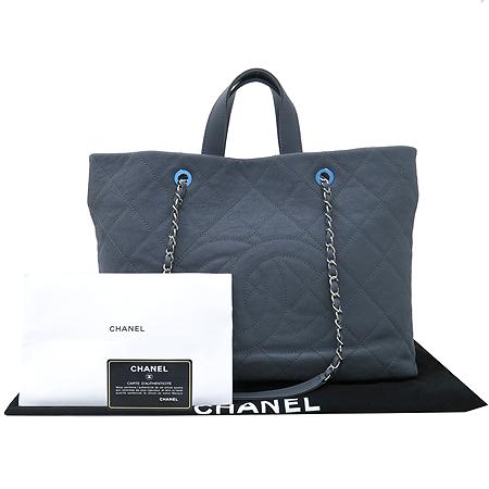 Chanel(샤넬) A90485 정방 그레이 캐비어스킨 이지 샤핑 쇼퍼 2WAY [인천점]