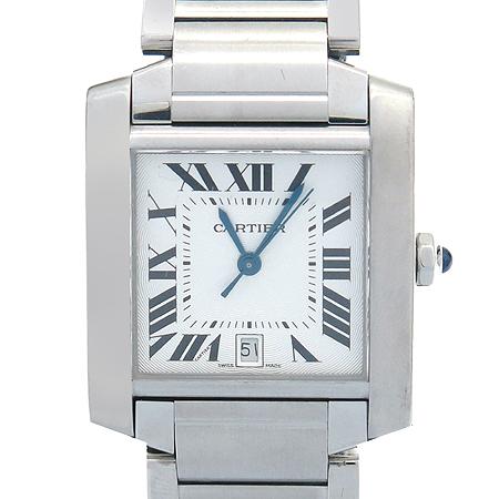 Cartier(까르띠에) W51002Q3 탱크 L사이즈 오토매틱 스틸 남성용 시계