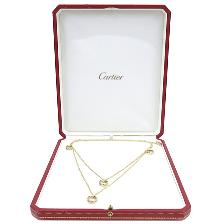 Cartier(까르띠에) 18K(750) 골드 3색 BABY TRINITY(베이비 트리니티) 링 팬던트 목걸이