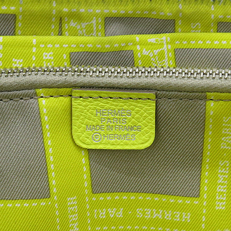 Hermes(에르메스) 아잡(AZAP) 수프레 라임컬러 레더 실크혼방 짚업 장지갑 [강남본점] 이미지5 - 고이비토 중고명품
