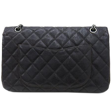 Chanel(샤넬) 2.55 캐비어 램스킨 더블컬러 L 사이즈 빈티지 은장 체인 숄더백 [강남본점] 이미지4 - 고이비토 중고명품