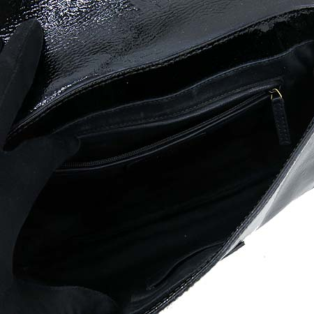 YSL(입생로랑) 2021440 블랙 페이던트 AGKOG  클러치 + 금장 체인 숄더백 [강남본점] 이미지6 - 고이비토 중고명품