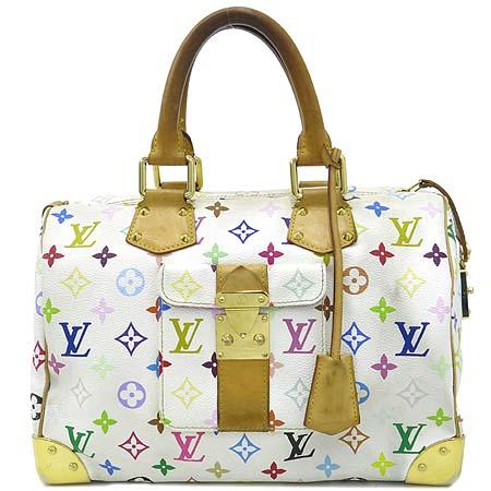 Louis Vuitton(루이비통) M92643 모노그램 멀티 컬러 화이트 멀티 스피디 토트백 [강남본점]