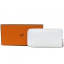 Hermes(에르메스) 아잡(AZAP) BLANC 엡송 레더 실크 혼방 집업 장지갑  [대구동성로점]