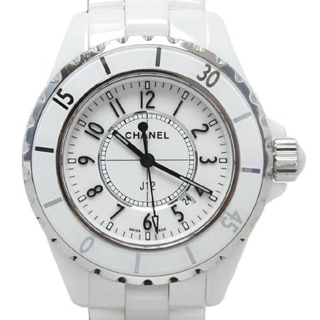 Chanel(샤넬) H0968 J12 쿼츠 데이트 화이트 세라믹 여성용 시계[광주롯데점]