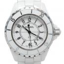 Chanel(샤넬) H0968 J12 쿼츠 데이트 화이트 세라믹 여성용 시계[광주]