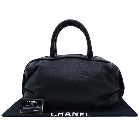 Chanel(샤넬) 블랙 컬러 레더 볼링 토트백 [인천점]