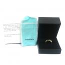 Tiffany(티파니) 18K 옐로우골드 + 925(실버) 1837 인터라킹 써클 반지-14호 [동대문점]