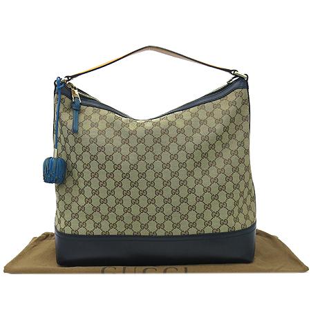 Gucci(구찌) 282330 GG 로고 자가드 블랙 레더 숄더백 [강남본점]