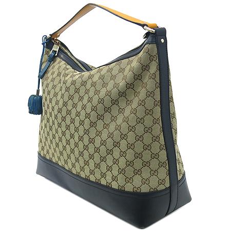 Gucci(구찌) 282330 GG 로고 자가드 블랙 레더 숄더백 [강남본점] 이미지3 - 고이비토 중고명품