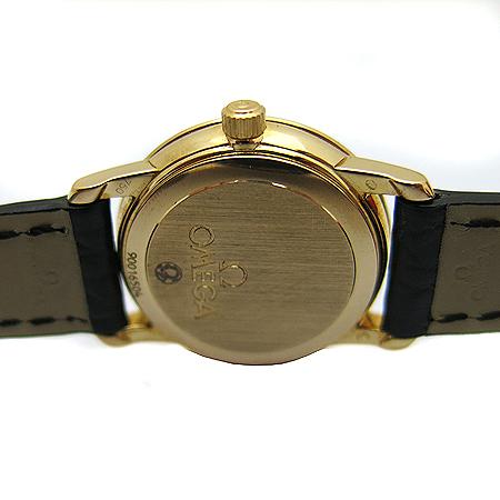 Omega(오메가) 4963.71 18K 금통 DeVille Prestige(드빌 프레스티지) 가죽 밴드 여성용 시계 [동대문점]