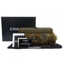 Chanel(샤넬) 토끼털 장식 트위드 트리밍 클러치 겸 크로스백 [강남본점]
