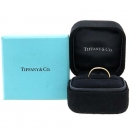 Tiffany(티파니) 18K(750) 핑크골드 ELSA PERETI (엘사퍼레티) 커브드링 1포인트 다이아 반지 [강남본점]