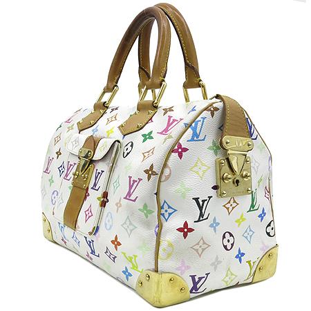 Louis Vuitton(루이비통) M92643 모노그램 멀티 화이트 스피디30 토트백 [강남본점] 이미지2 - 고이비토 중고명품