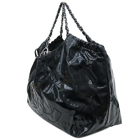 Chanel(샤넬) 페이던트 블랙 로고 스티치 카바스 은장로고 체인 숄더백 + 보조 파우치 [강남본점] 이미지2 - 고이비토 중고명품