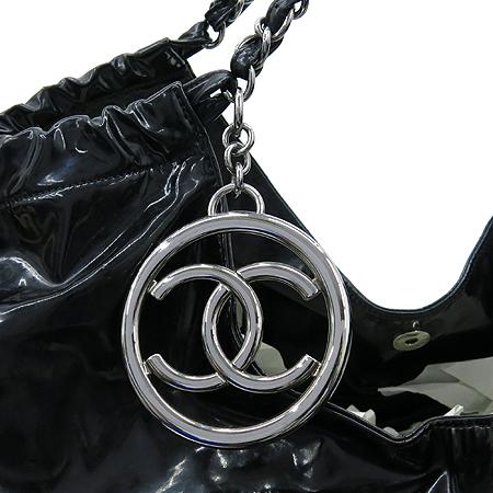 Chanel(샤넬) 페이던트 블랙 로고 스티치 카바스 은장로고 체인 숄더백 + 보조 파우치 [강남본점] 이미지3 - 고이비토 중고명품