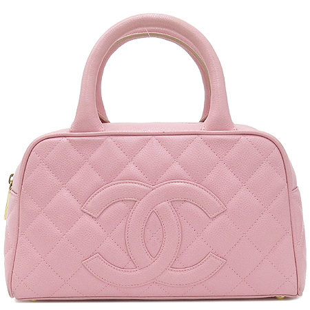 Chanel(샤넬) 캐비어 스킨 핑크 로고 스티치 미니 토트백  [대구동성로점] 이미지2 - 고이비토 중고명품