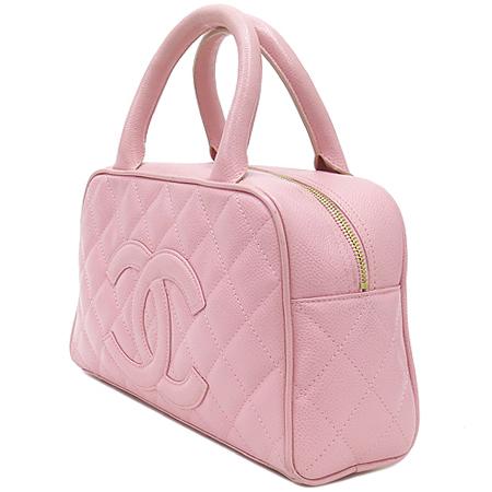 Chanel(샤넬) 캐비어 스킨 핑크 로고 스티치 미니 토트백  [대구동성로점] 이미지3 - 고이비토 중고명품