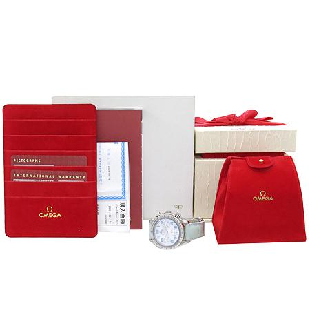 Omega(오메가) 3834.71.34 스피드마스터 크로노그래프 오토매틱 가죽 밴드 여성용 시계 [강남본점]