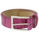COLOMBO(콜롬보) 핑크 CROCODILE(크로커다일) 은장 버클 여성용 벨트 [대구반월당본점]