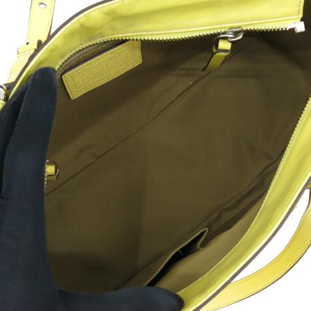 Coach(코치) 13761 로고 장식 옐로우 에나멜 숄더백 [강남본점] 이미지6 - 고이비토 중고명품