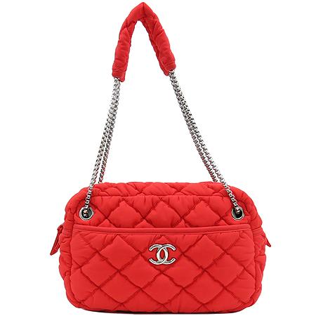 Chanel(샤넬) A46168Y05959 61347 레드패브릭 퀼팅 은장로고 체인 숄더백 [강남본점] 이미지2 - 고이비토 중고명품