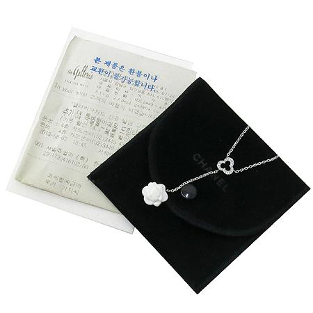 Chanel(샤넬) J2934 18k(750) 화이트골드 아게이트 까멜리아 장식 다이아 팬던트 목걸이 [강남본점]
