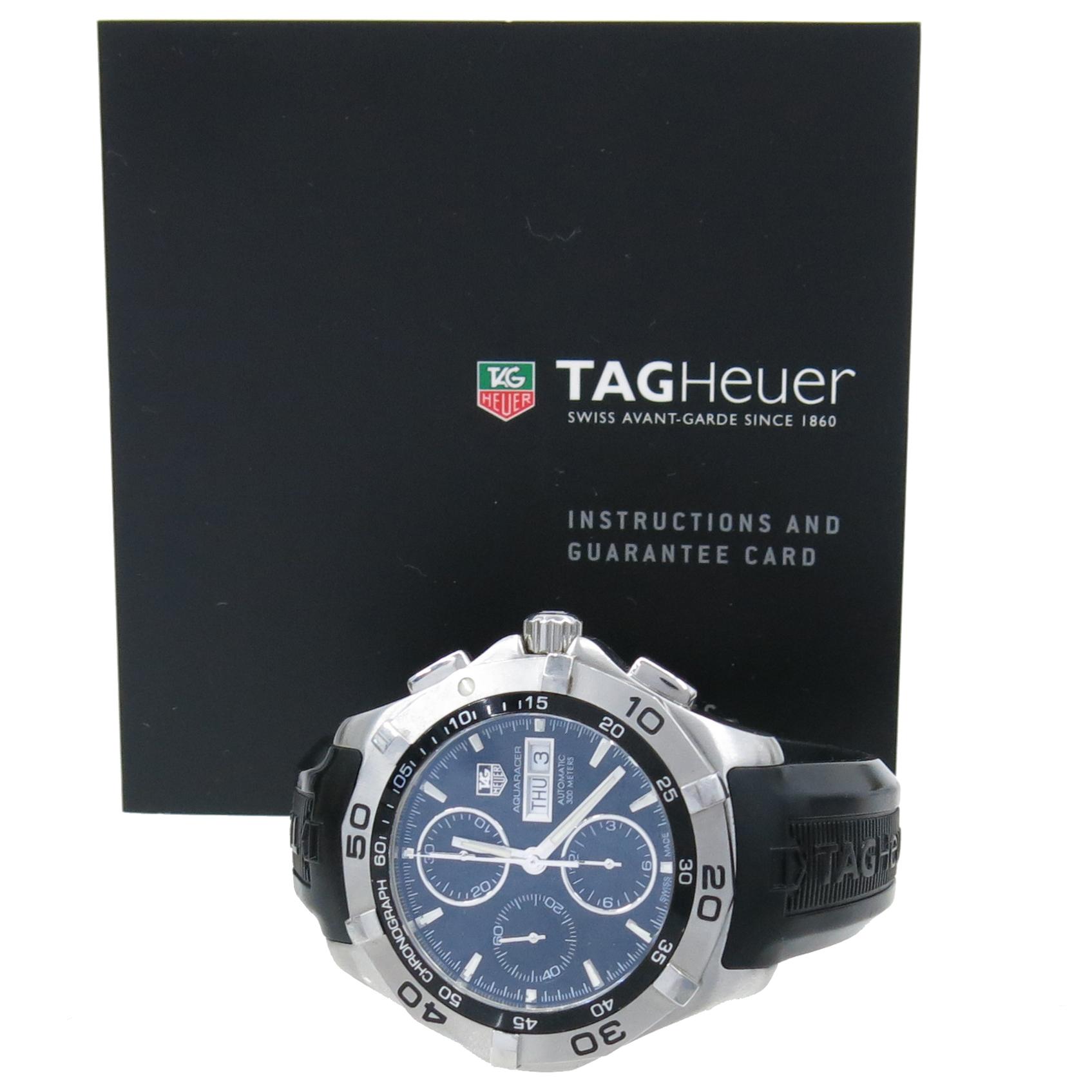 Tag Heuer(태그호이어) CAF2010.BA0815 AQUARACER(아쿠아레이서) 크로노 남성용 러버밴드 시계