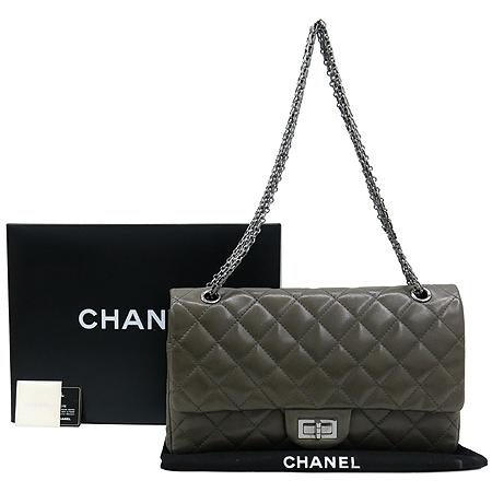 Chanel(샤넬) 소프트카프 스킨 그레이 2.55 은장로고 체인 숄더백 [대구반월당본점]