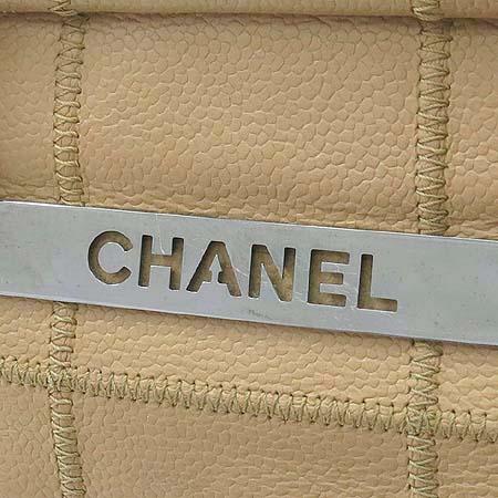 Chanel(샤넬) 은장 캐비어 스킨 마트라쎄 누빔 스티치 토트백