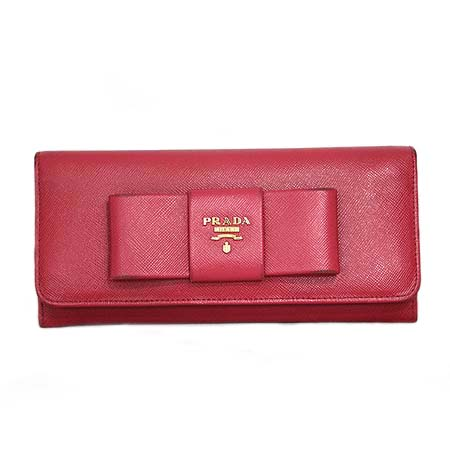 Prada(프라다) 1M1132 핑크 사피아노 리본 장식 장지갑 [동대문점] 이미지2 - 고이비토 중고명품