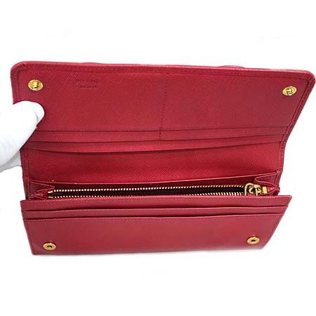 Prada(프라다) 1M1132 핑크 사피아노 리본 장식 장지갑 [동대문점] 이미지3 - 고이비토 중고명품