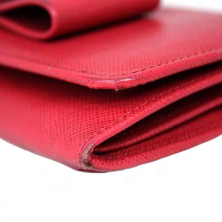 Prada(프라다) 1M1132 핑크 사피아노 리본 장식 장지갑 [동대문점] 이미지4 - 고이비토 중고명품
