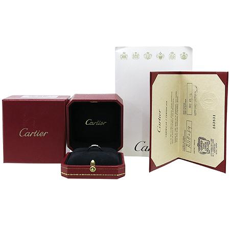 Cartier(까르띠에) B40804 18K(750) 화이트 골드 마이용 팬더 링 4포인트 다이아 웨딩 반지 - 9호 [강남본점]