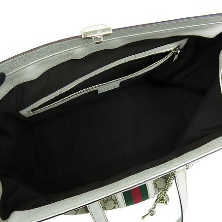 Gucci(구찌) 150335 GG 로고 자가드 삼색 스티치 화이트 레더 트리밍 ...