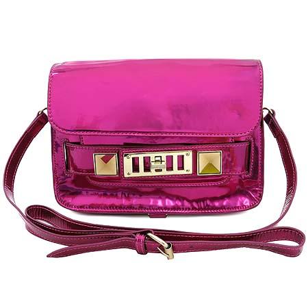 PROENZA SCHOULER(프로엔자슐러) PS11 Mini Classic 핑크 브론즈 컬러 숄더겸 크로스백 [강남본점]