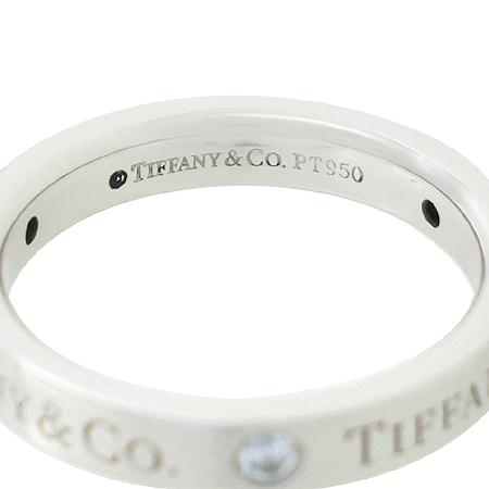Tiffany(티파니) 23776324 PT950(플래티늄) 라운드 로고 브릴리언트 3포인트 다이아 밴드 링 반지 - 8호  [대전본점] 이미지4 - 고이비토 중고명품